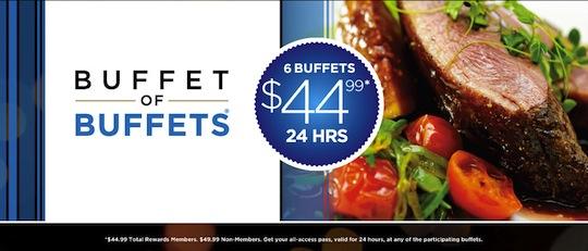 [逾期](USA)拉斯維加斯Buffet of Buffets只需US$44.99 (24小時任食7間自助餐)