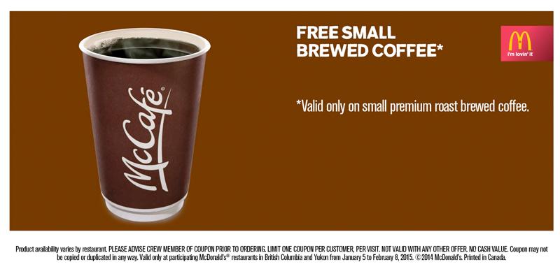 [逾期]McDonald's:免費咖啡