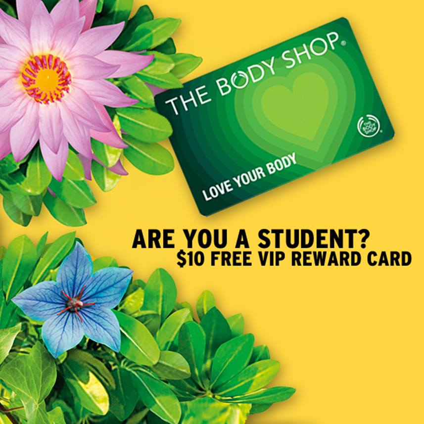 The Body Shop:免費Love Your Body Rewards Card(價值$10)