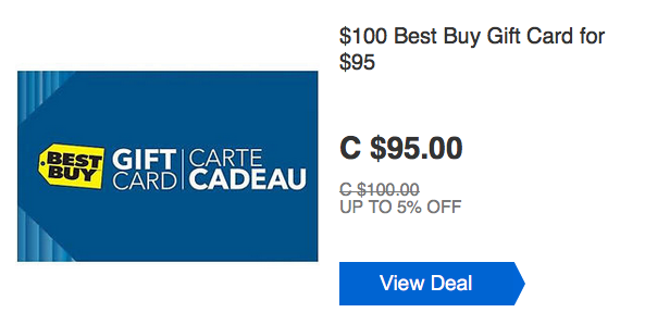 [逾期]ebay.ca:$100 Best Buy Gift Card只賣$95