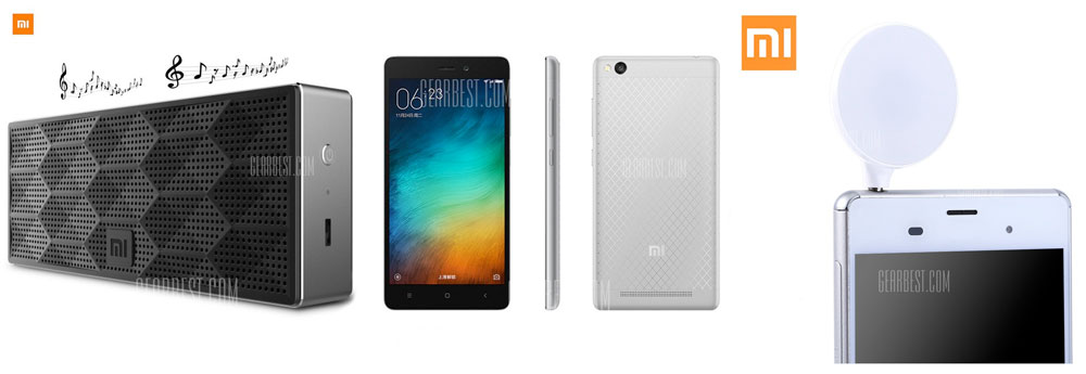 GearBest.com:小米品牌紅米3 16GB手機只賣US$130.88