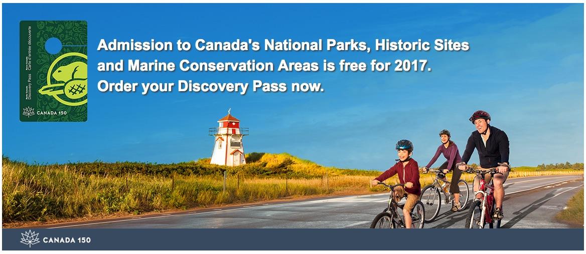 [逾期]加拿大公園局:免費Discovery Pass
