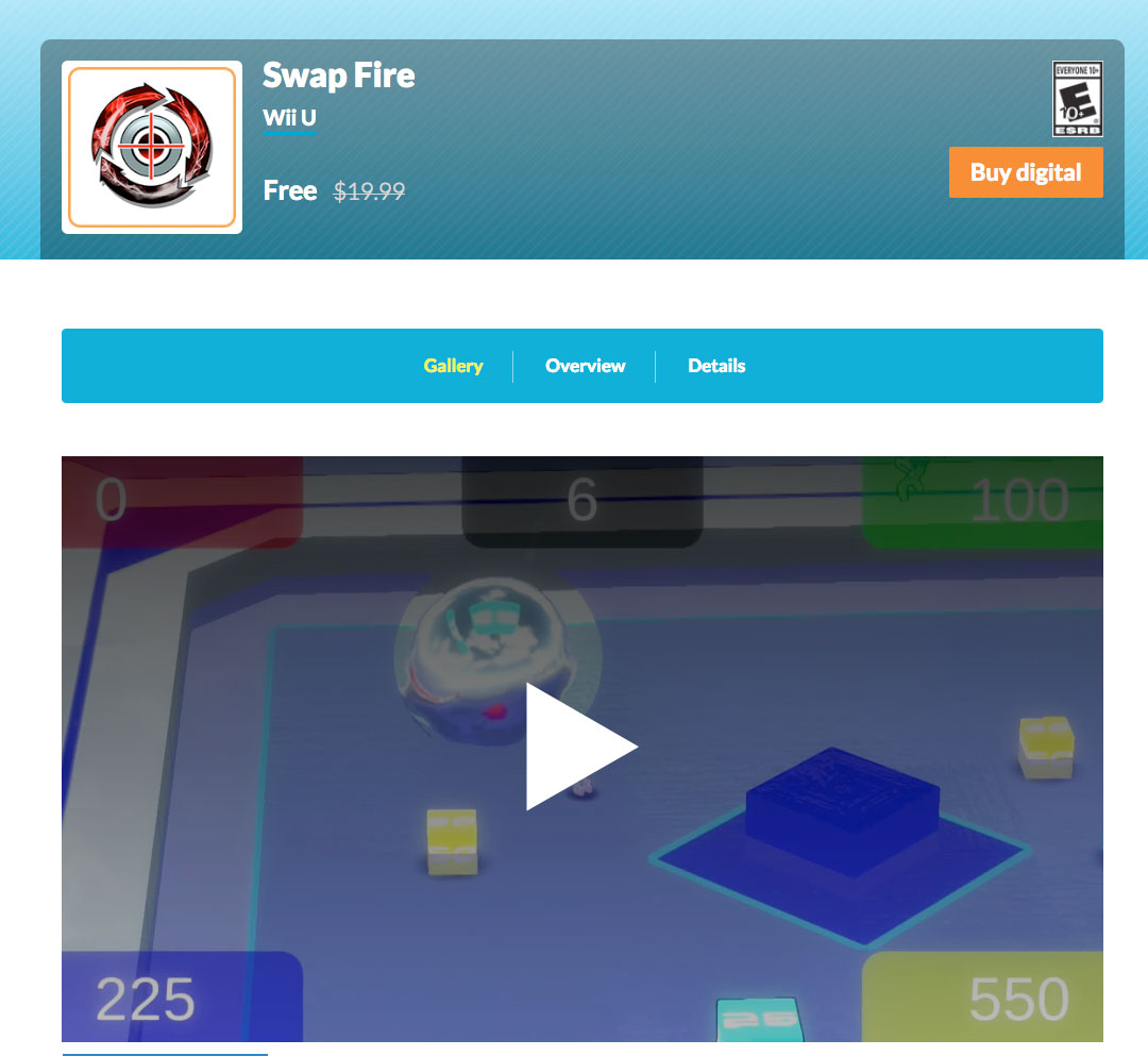 Nintendo:免費下載Swap Fire(Wii U遊戲)