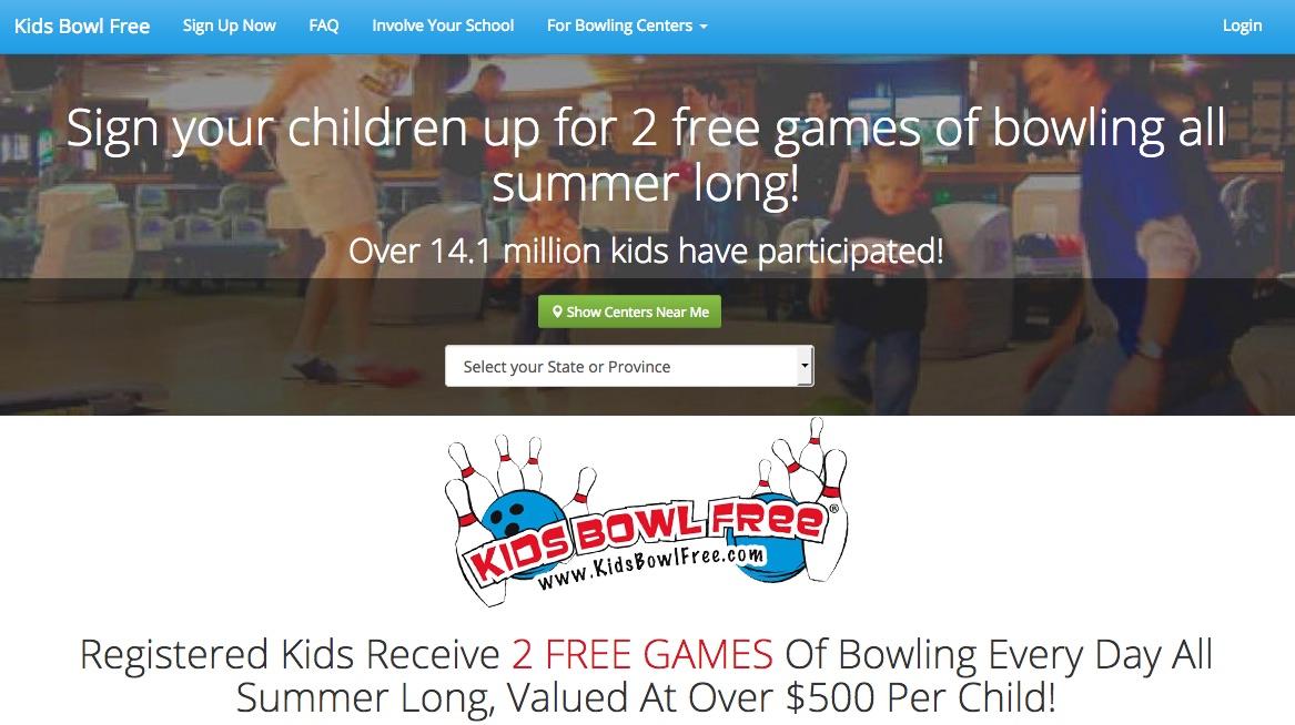 免費兩局保齡球遊戲(只限小童)