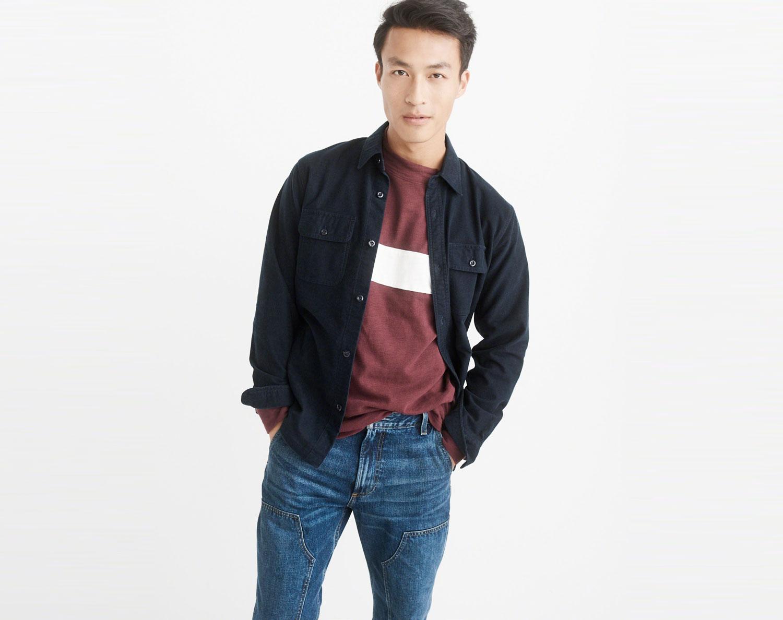 A&F:男裝長袖恤衫外套只賣$11.99