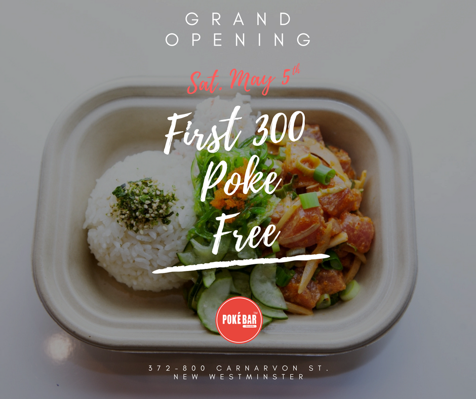 [逾期]Poké Bar Canada:免費夏威夷傳統魚生飯