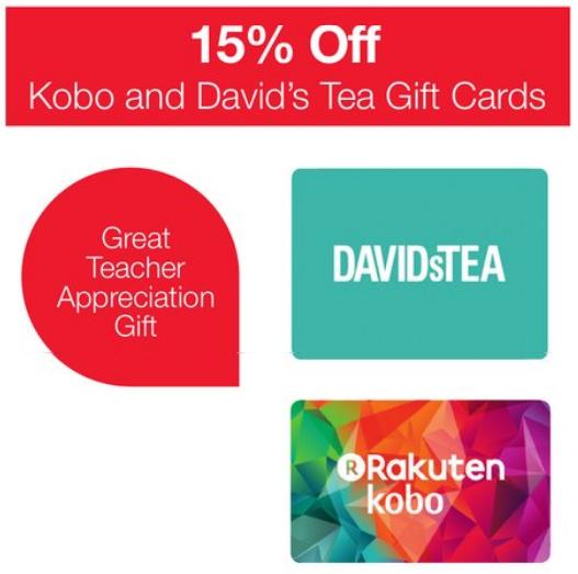 Staples:購買David's Tea禮券可獲八五折優惠