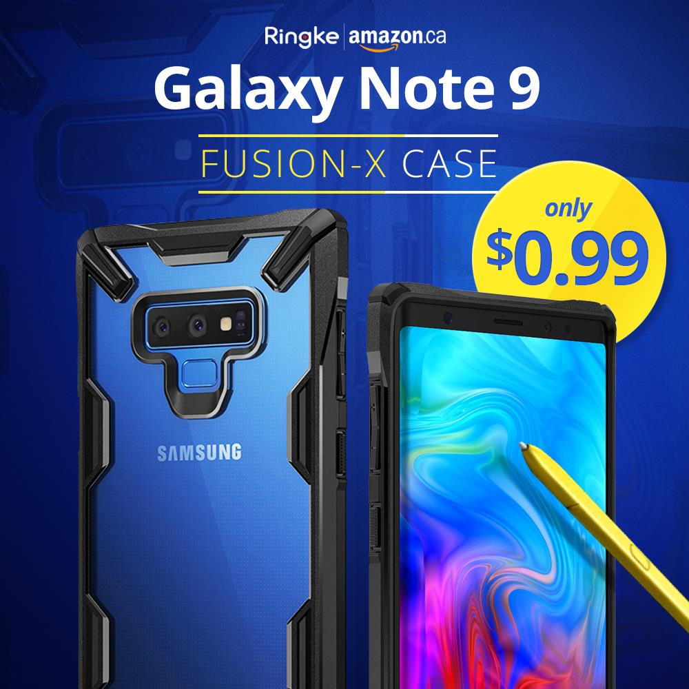 Amazon:Ringke Samsung Note 9吸震Bumper保護殼只賣99¢