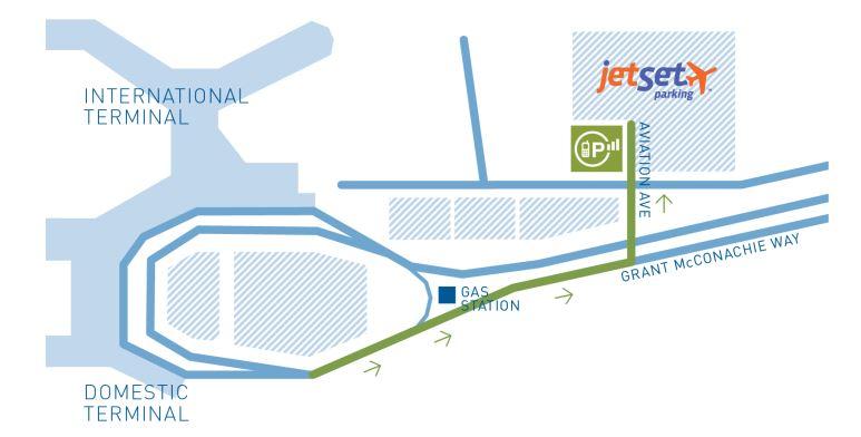 溫哥華國際機場:手機等候區免費停車30分鐘