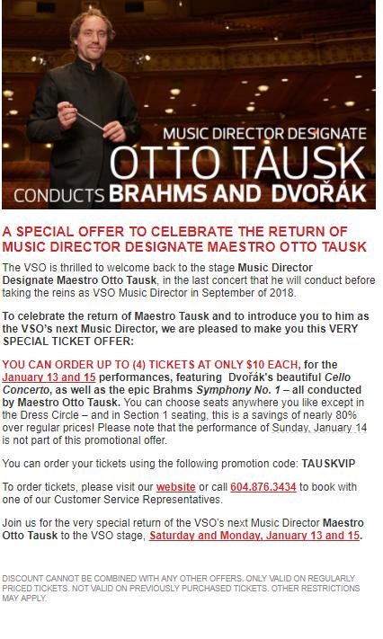 [逾期]溫哥華交響樂團:$10門票