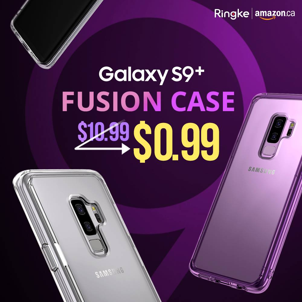 Amazon:Ringke Samsung S9 Plus吸震Bumper保護殼只賣99¢
