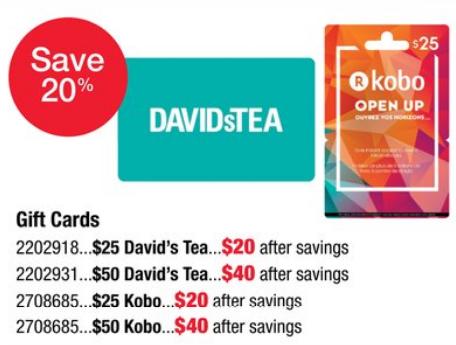 [逾期]Staples:購買David's Tea禮券可獲八折優惠
