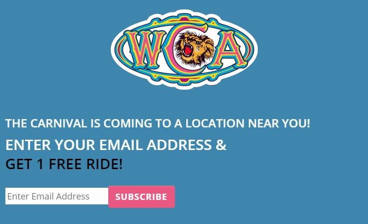 West Coast Amusements大型機動遊戲嘉年華免費遊戲一次