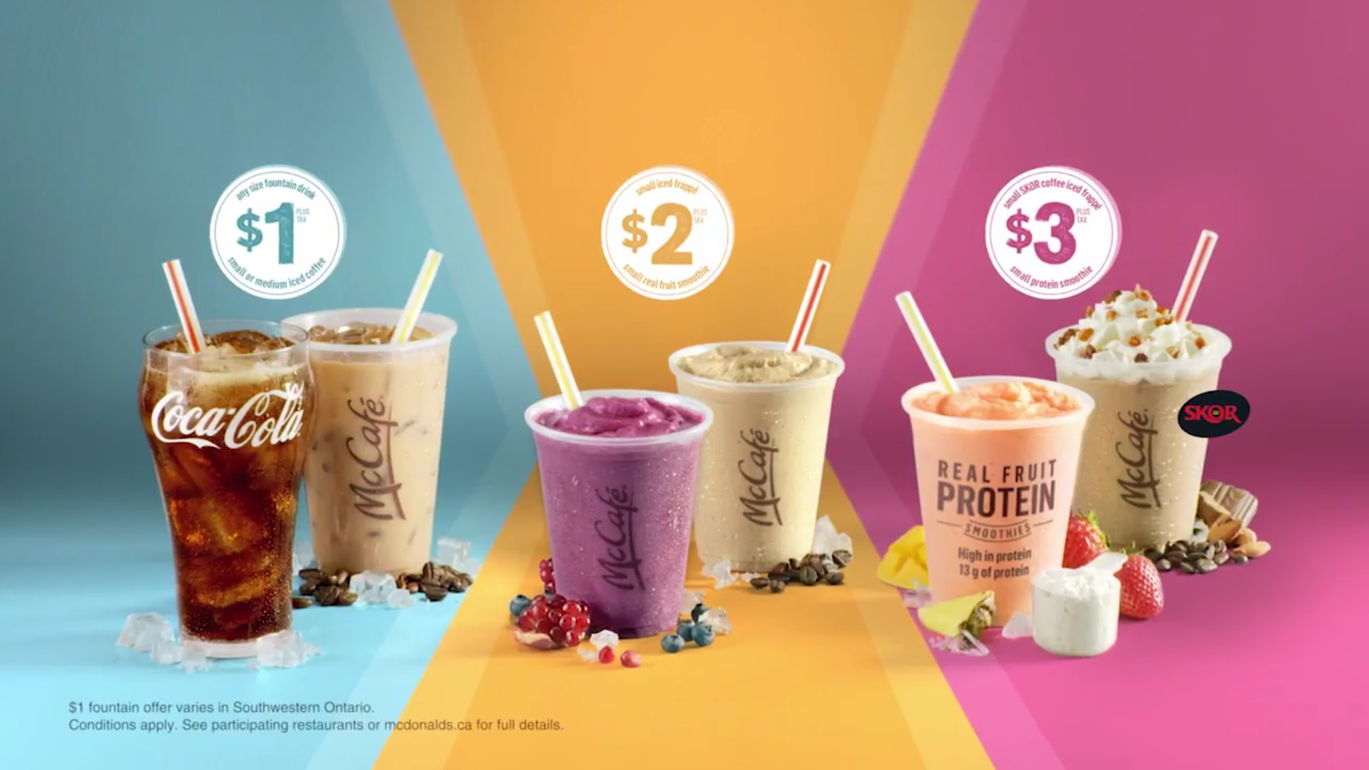 McDonald's:汽水、冰咖啡只賣$1