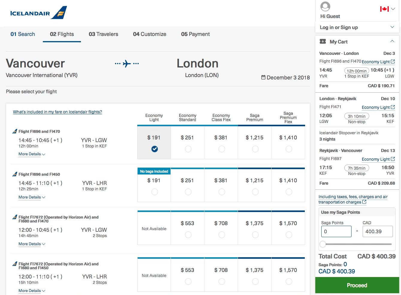 Iceland Air:溫哥華 – 倫敦 – 冰島機票只賣加幣$400(連稅)