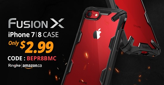 Amazon:Ringke iPhone 7/8吸震保護殼只賣$2.99