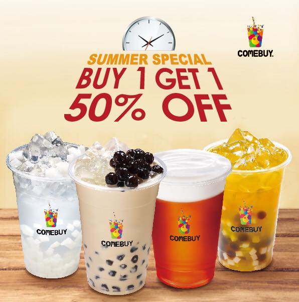 Comebuy:第一杯正價、第二杯半價