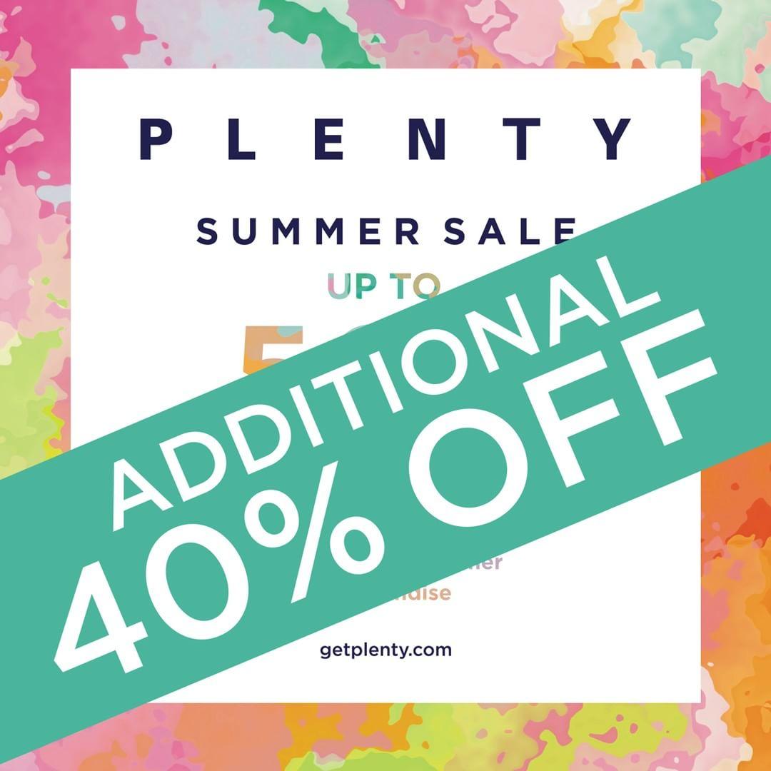 Plenty:夏季服裝特價後額外六折優惠