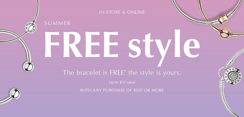 [逾期]Pandora:购物满$125,可获免费手链