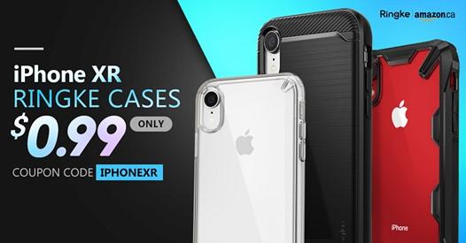 [逾期]Amazon:Ringke iPhone XR吸震Bumper保護殼只賣99¢
