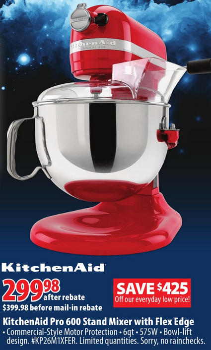 [逾期]London Drugs:Kitchenaid Stand Mixer只賣$399.98 (+$100郵寄回贈及$20 Gift Card)