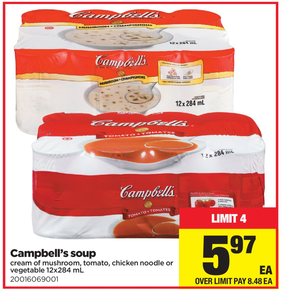 Superstore:金寶罐頭湯(12罐)只賣$5.97