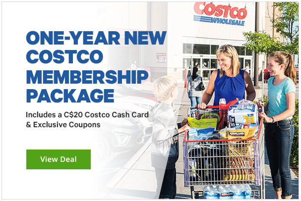 Groupon:Costco Gold Star新會員費 + $20 Costco Cash Card只賣$60