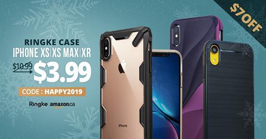 Amazon:Ringke iPhone XR/XS Max/XS吸震保護殼只賣$3.99