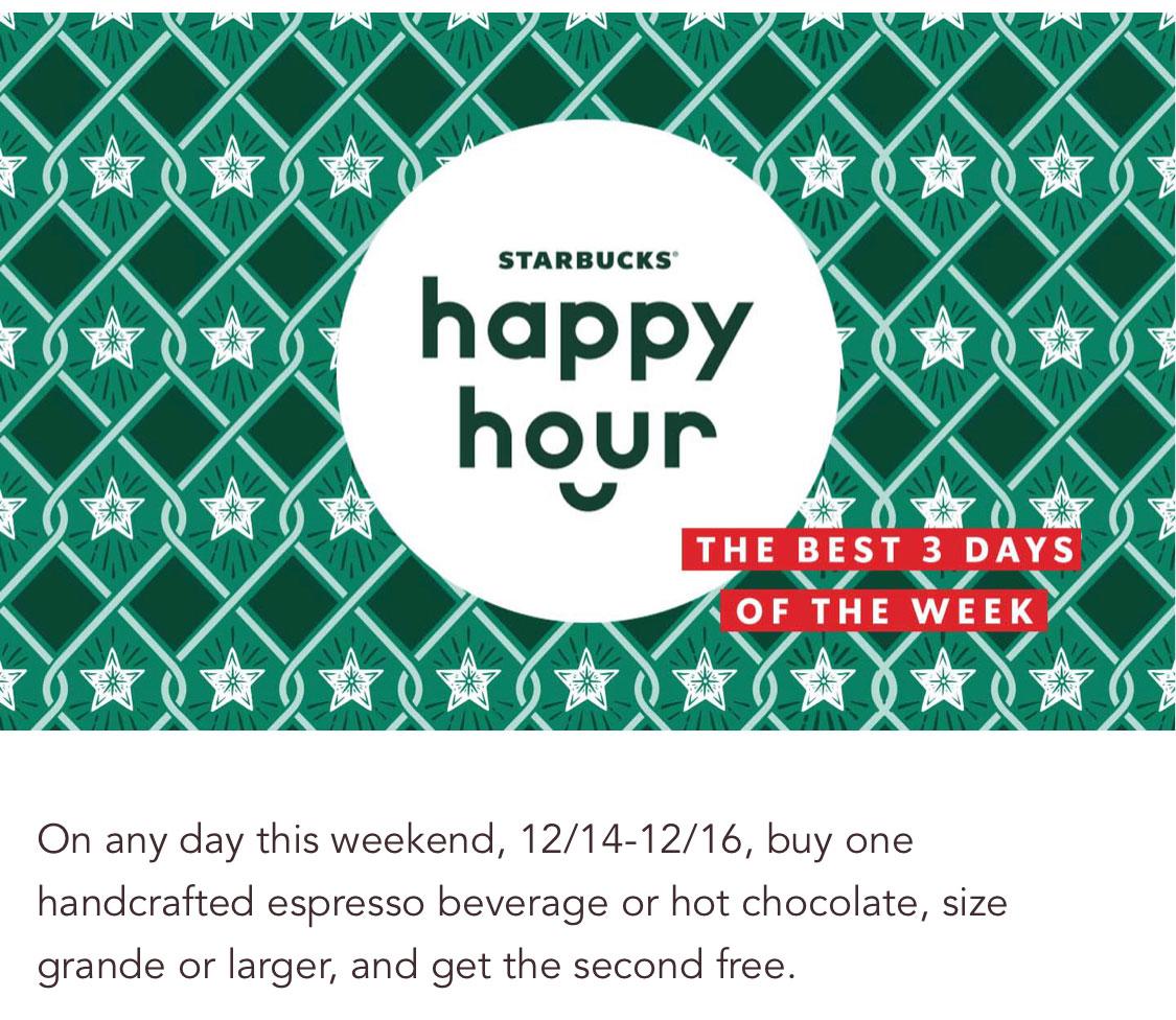 [逾期]Starbucks:任何Espresso/Hot Chocolate可享買一送一優惠 (只限Starbucks會員)