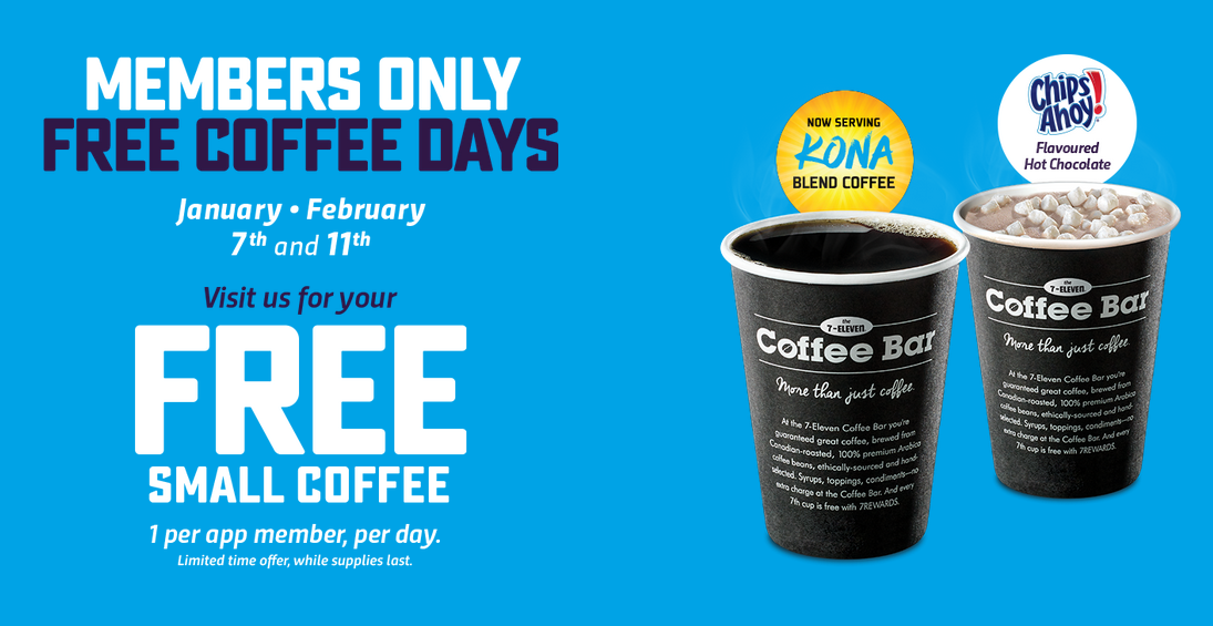 7 Eleven:免費咖啡