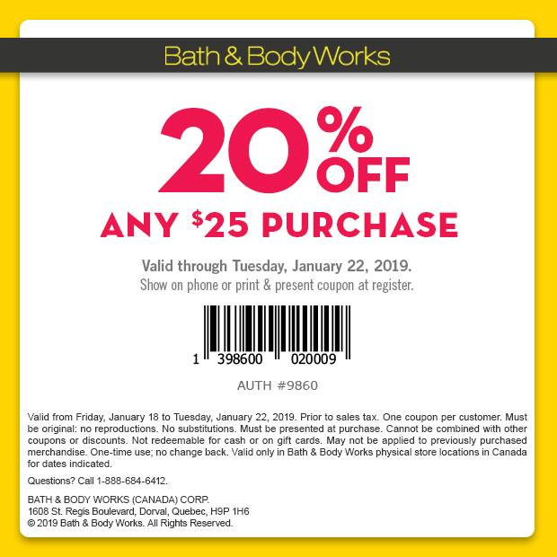 Bath & Body Works:八折優惠