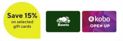 Staples:購買Roots禮券可獲八五折優惠