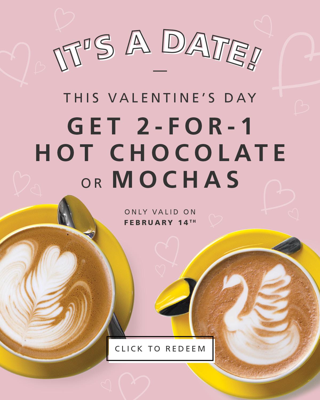 Blenz Coffee:Hot Chocolate/Mochas買一送一優惠