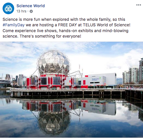 Science World:免費入場