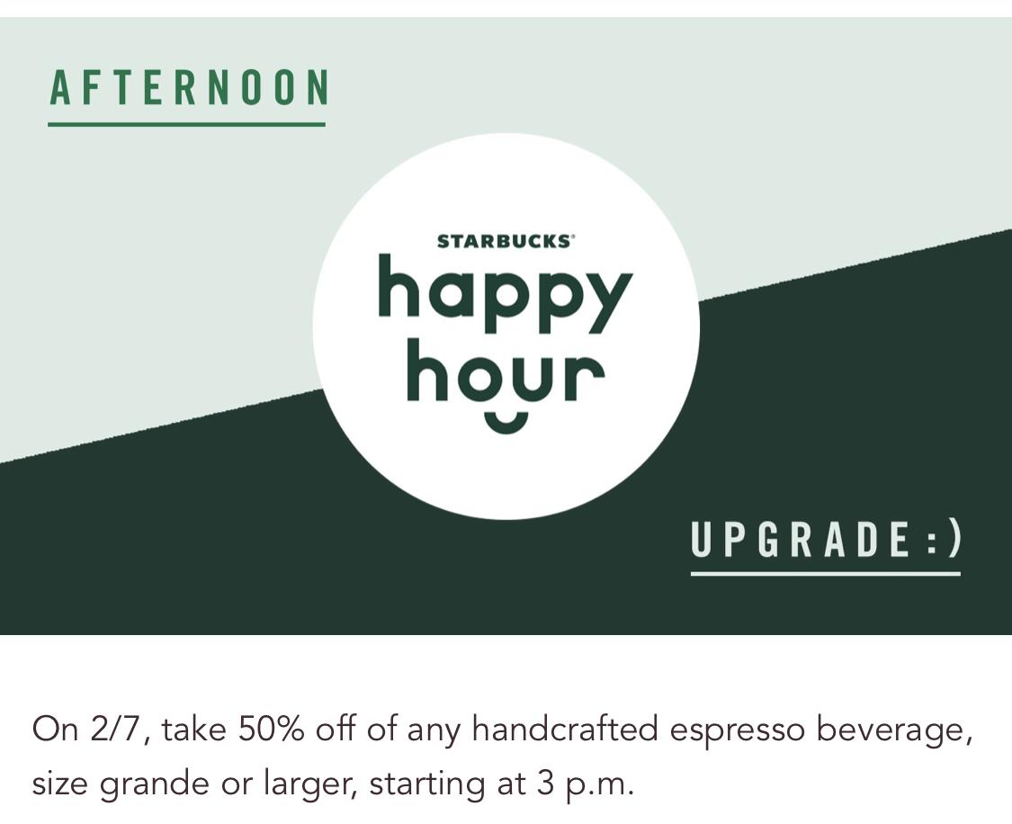 Starbucks:任何Espresso可享半價優惠 (只限Starbucks會員)