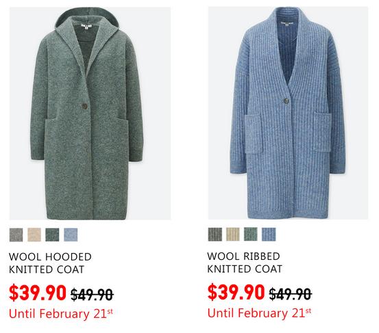 Uniqlo限時優惠:女裝外套只賣$39.90