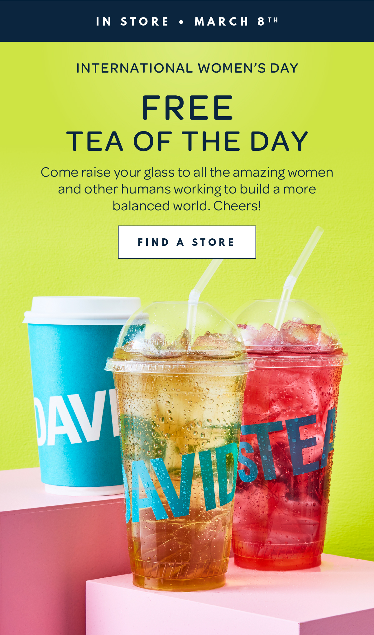 David's Tea:免費茶贈飲(只限女士)