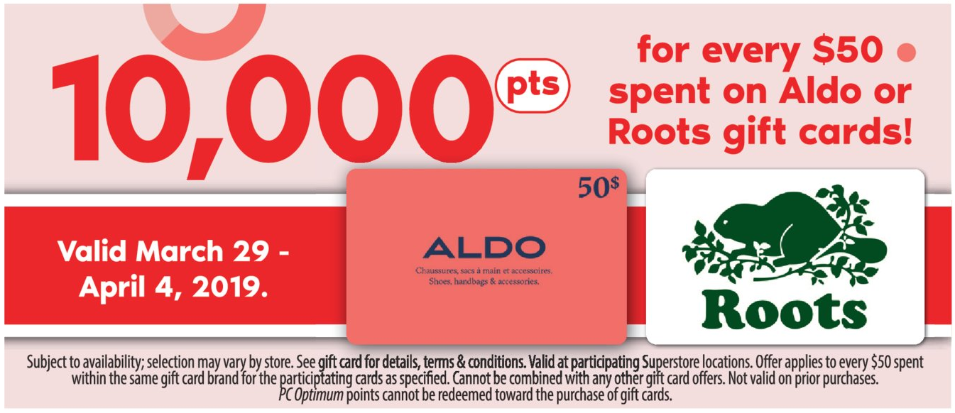 Superstore:购买指定Gift Card可获 10000 PC Optimum Points