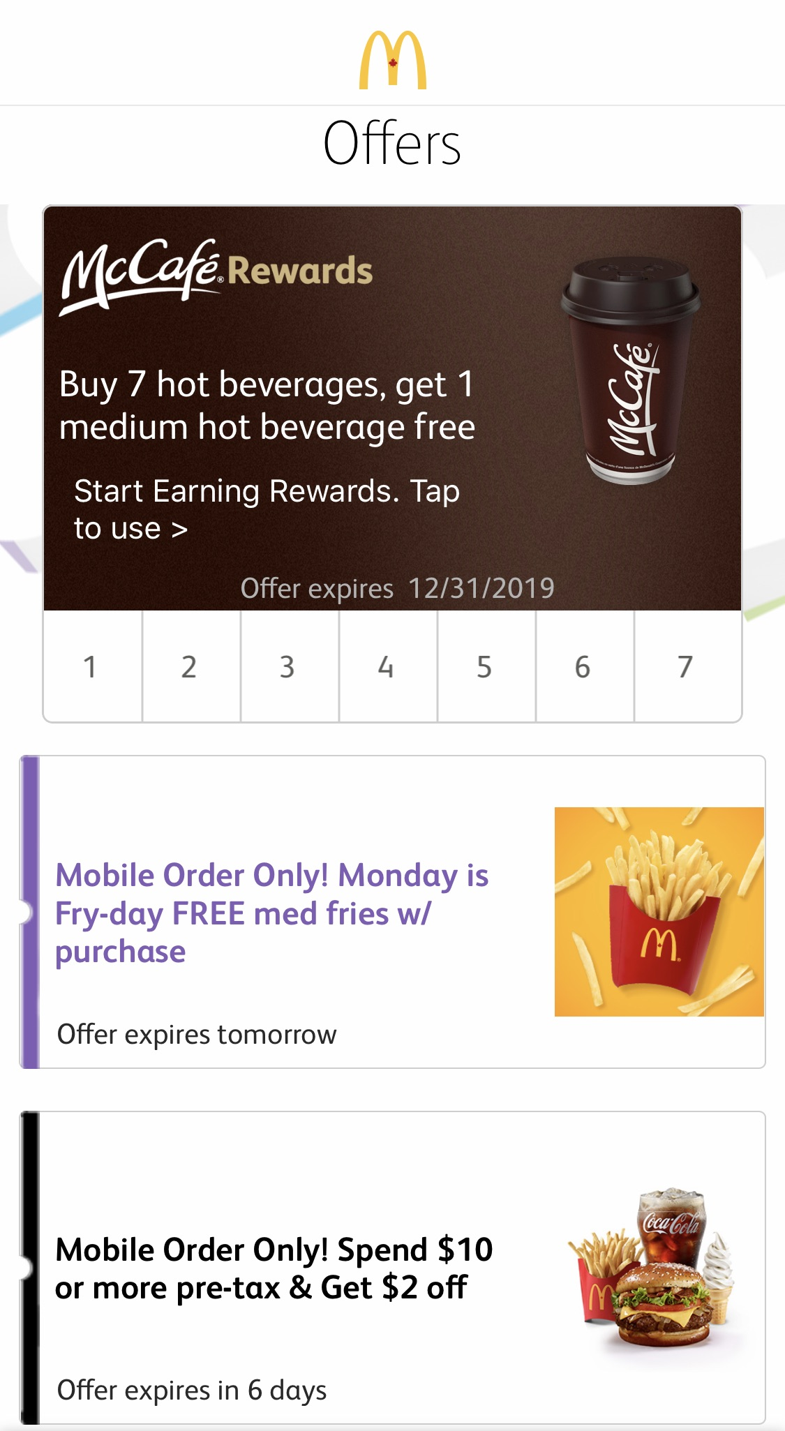 McDonald's:免費薯條