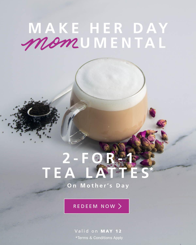 Blenz Coffee:Tea Lattes買一送一優惠