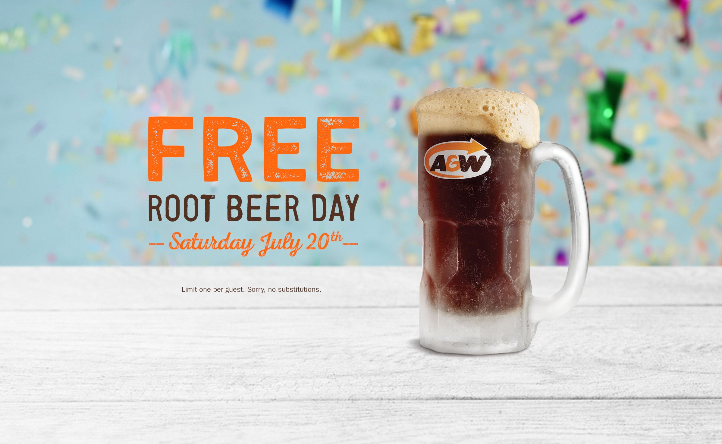 A&W:免費Root Beer