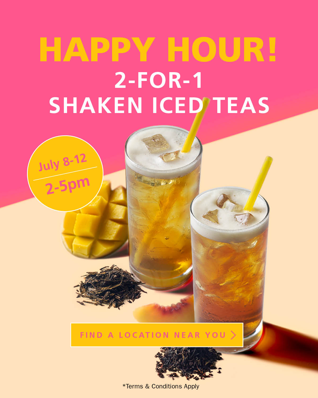 Blenz Coffee:Shaken Iced Tea買一送一優惠