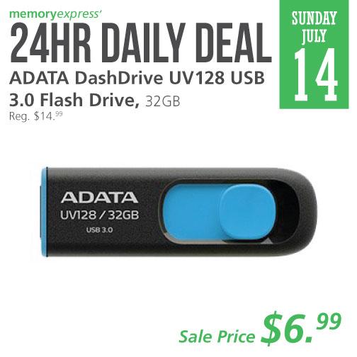Memory Express:ADATA 32GB USB Flash Drive只賣$6.99