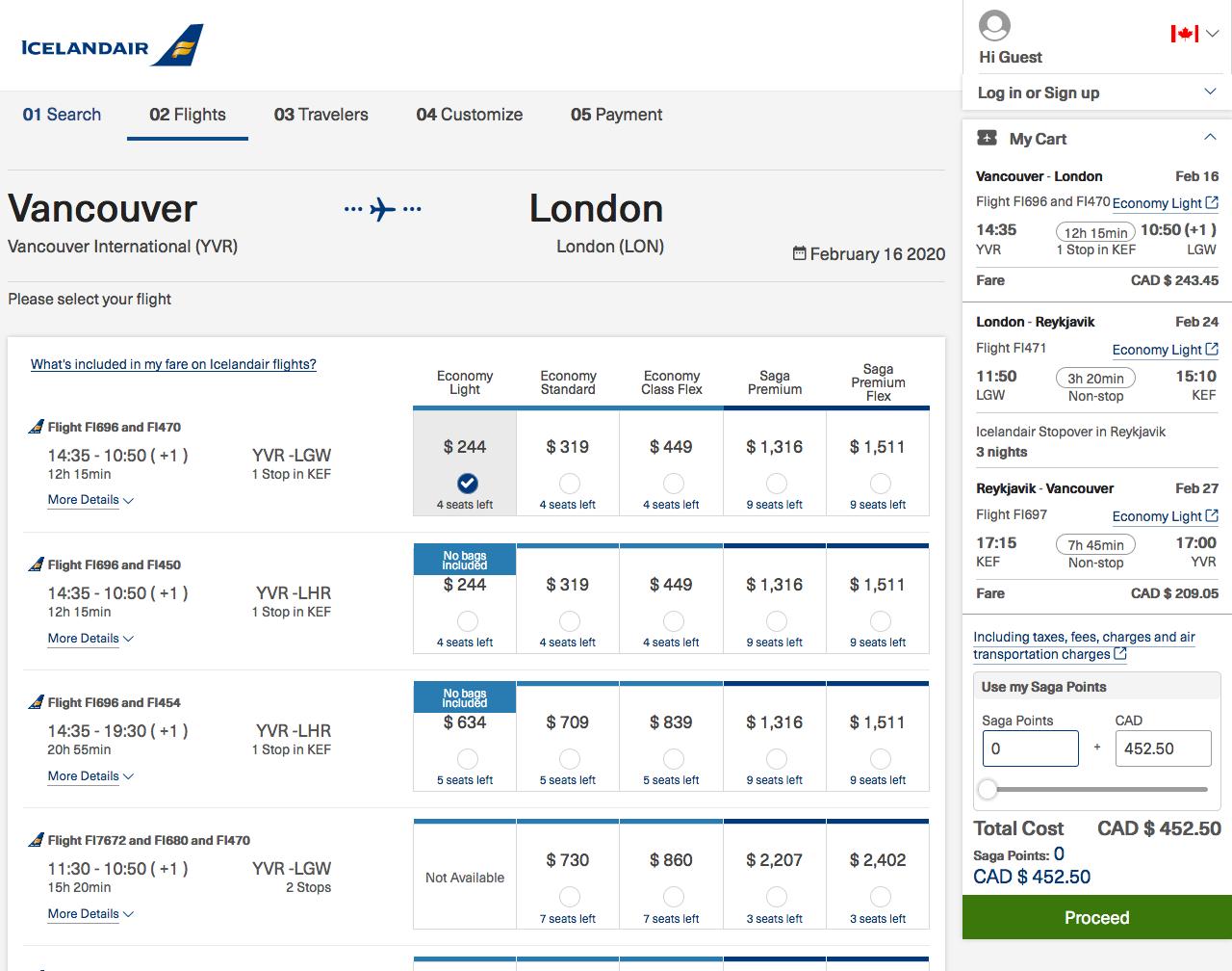 Iceland Air:溫哥華 – 倫敦 – 冰島機票只賣加幣$453(連稅)