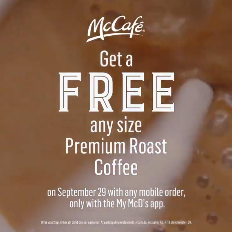 McDonald's:免費咖啡