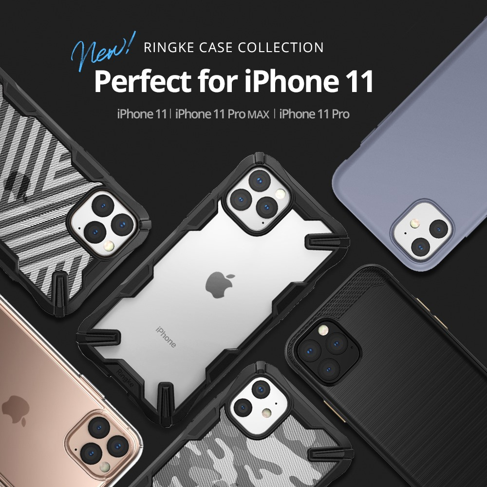 Amazon:Ringke iPhone 11/iPhone 11 Pro/iPhone 11 Pro Max吸震Bumper保護殼只賣$2.10