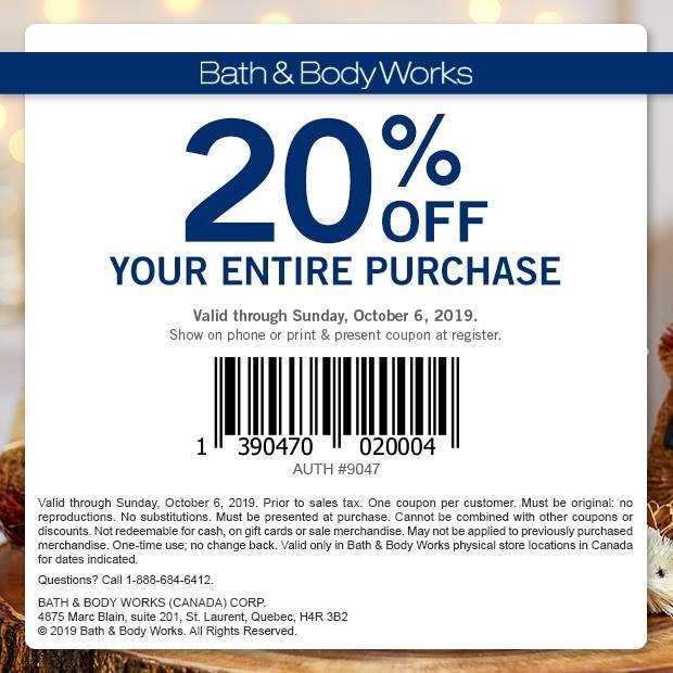 Bath & Body Works:八折優惠