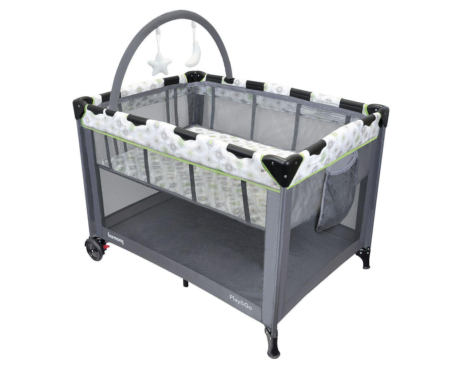 Walmart.ca:Harmony双层游戏床/婴儿床只卖$49.97