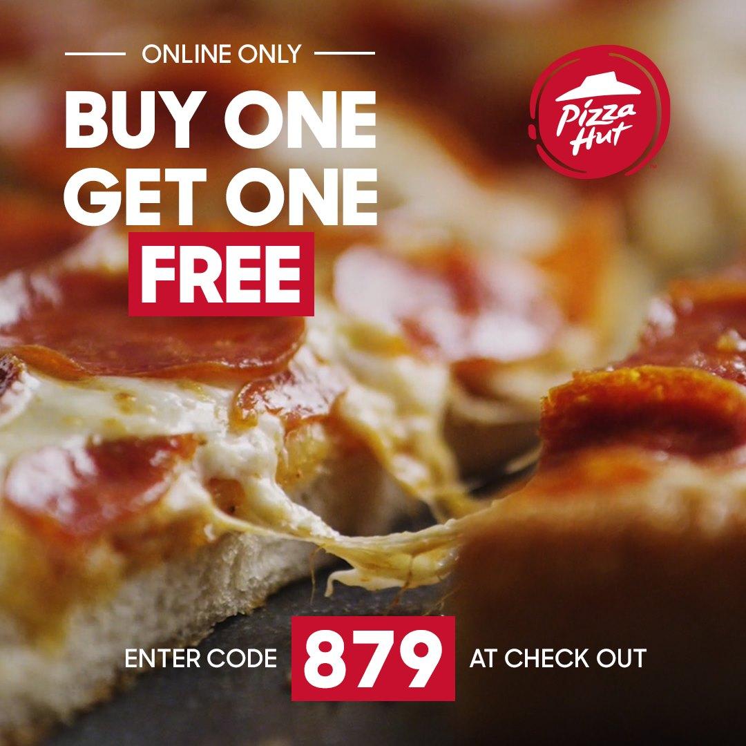 Pizza Hut:買一送一優惠