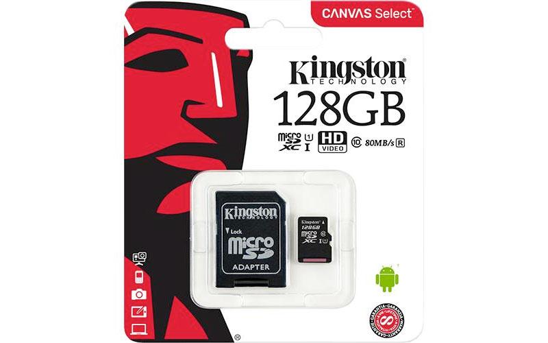 Visions:Kingston 128GB MicroSDXC卡只賣$18
